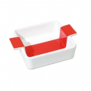 Lot de 2 Plats Salsa Carres 21x21 cm