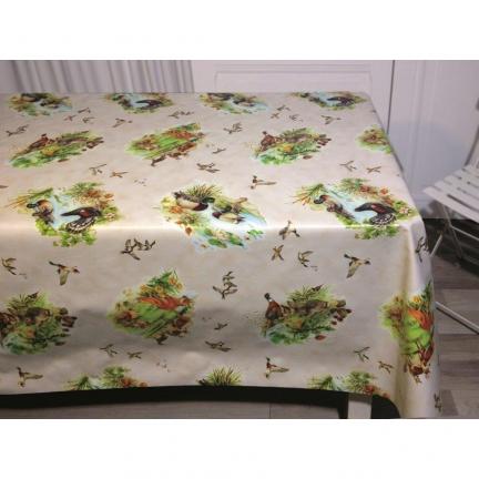 ducatillon nappe en toile cir e vendue au m tre chasse. Black Bedroom Furniture Sets. Home Design Ideas