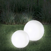 Lampes boules solaire diamètre 15 cm Lot de 2