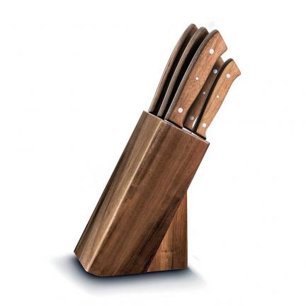 ducatillon coffret 5 couteaux acacia cuisine. Black Bedroom Furniture Sets. Home Design Ideas