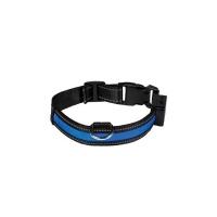 Collier pour chien lumineux Eyenimal® USB rechargeable bleu
