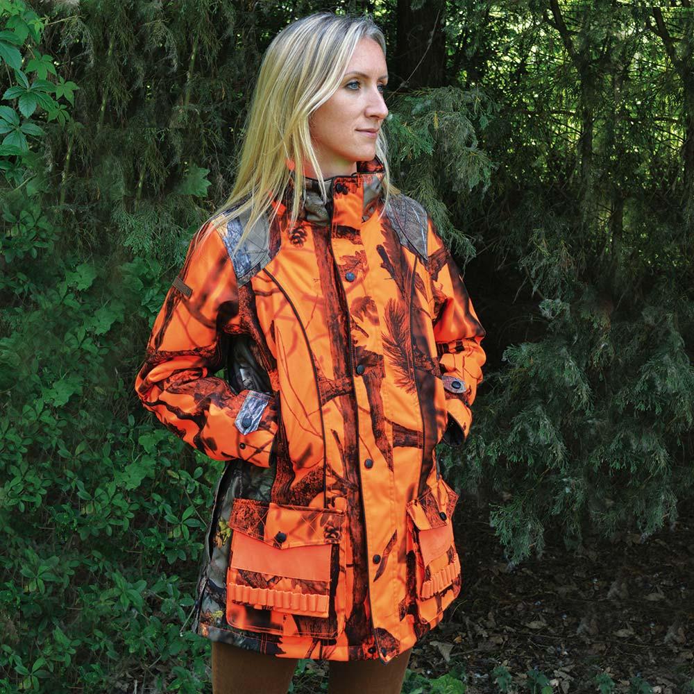 ducatillon veste de chasse femme brocard ghostcamo orange chasse. Black Bedroom Furniture Sets. Home Design Ideas