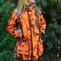 Veste de chasse Femme Brocard Ghostcamo Orange
