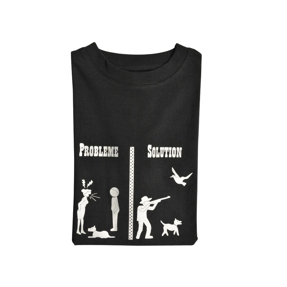 pas cher pour réduction f2caf 88941 Tee-Shirt Noir Humour M