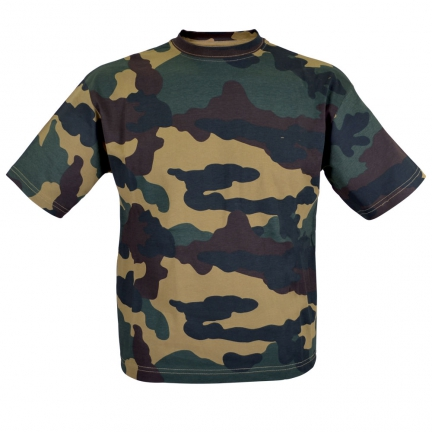 tee shirt camo  taille 6 ans