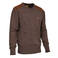 Pull marron col rond Verney-Carron®