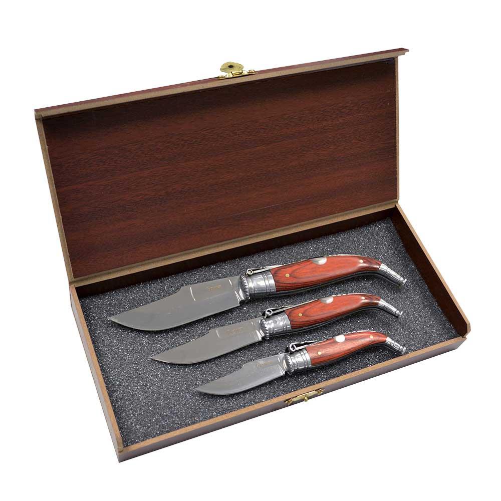 ducatillon coffret luxe 3 couteaux chasse. Black Bedroom Furniture Sets. Home Design Ideas