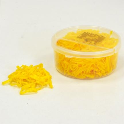 Elastiques à natter jaunes vif