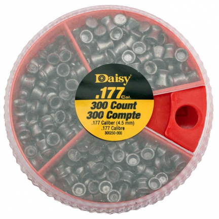 Boîte distributrice de plombs 3 compartiments Daisy® + 300 diabolos 4.5 mm