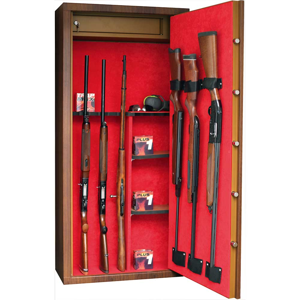 Ducatillon Armoire Forte Infac Wood Look Aspect Noyer 11 Armes