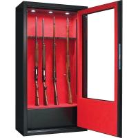 Armoire forte Infac® Vitrée 10 armes lunette + coffre + éclairage intérieur