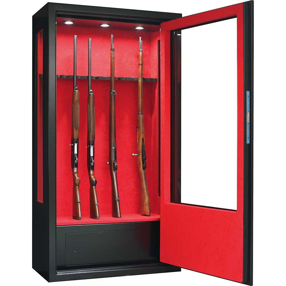 ducatillon armoire forte infac vitr e 14 armes lunette coffre clairage int rieur c t s. Black Bedroom Furniture Sets. Home Design Ideas