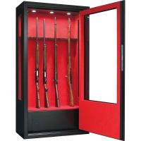 Armoire forte Infac® Vitrée 14 armes lunette + coffre + éclairage intérieur + côtés vitrés