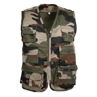 Gilet sans manches camouflage