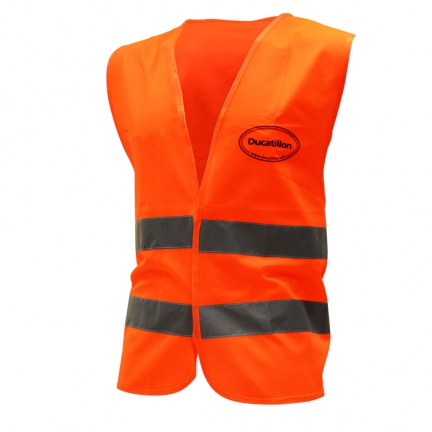 gilet de traque orange taille L