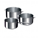 3 Casseroles Evolution  Ø16, 18, 20cm