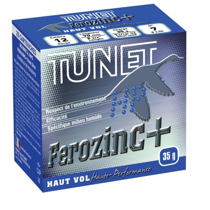 25 Cartouches Tunet Ferozinc+ Haut Vol 35g pb2