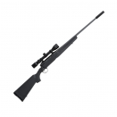 Carabine Filetée Gaucher cal.270 WIN Savage® Axis + Silencieux + fourreau + lunette + 20 balles