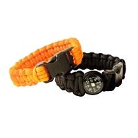 Bracelet de survie+ boussole intégrée