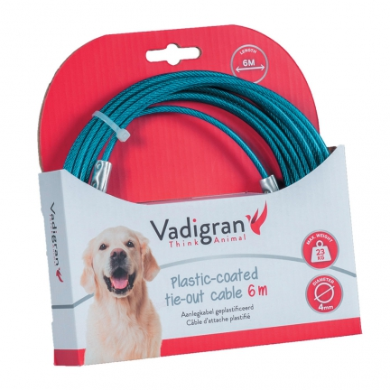 Cable d'attache bleu 6m