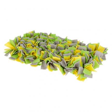 Tapis à renifler 50x30cm jaune/vert/gris
