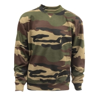 Sweat col rond camouflage CE