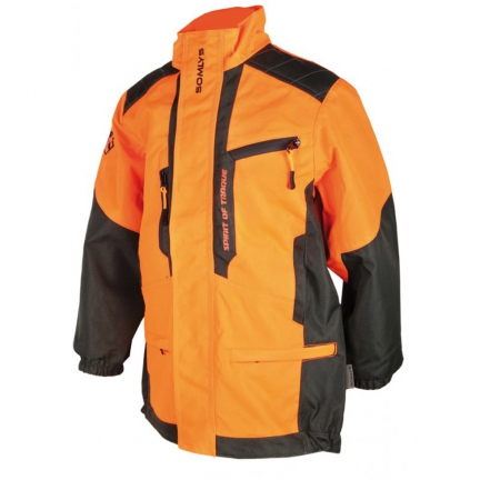 Veste anti-ronce camo orange enfants T10