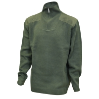 Pull Chasse chiné col camionneur