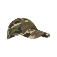 Casquette Camouflage 2 leds rouge + 3 leds blanche