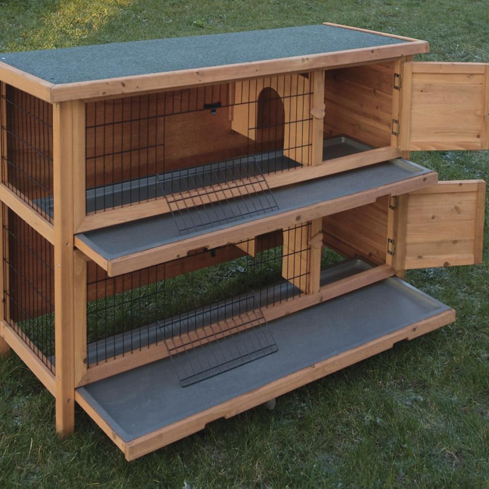 Ducatillon clapier double elevage for Construire une cage a lapin exterieur