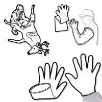 Kit de 2  pochettes de gants de dépecage
