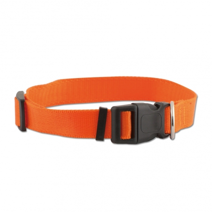 Collier nylon  réglable 40-60cm / Orange